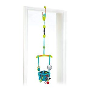 Bright Starts Bounce 'N Spring Deluxe Door Jumper with Take-Along Toys, Ages 6 months +, Blue
